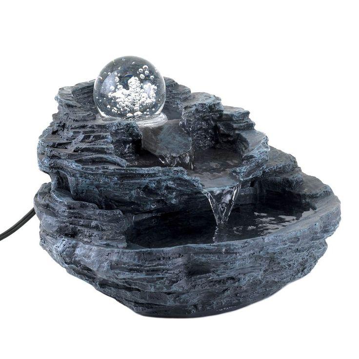 Rock Design Desk Fountain, Clear