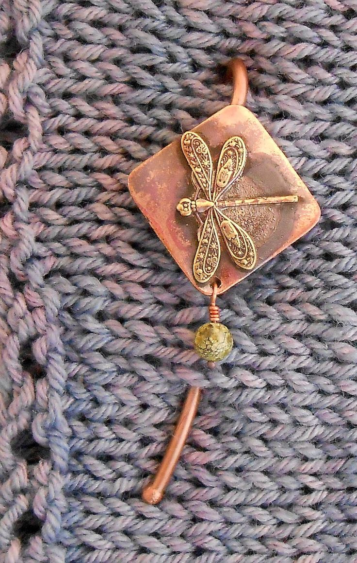 Shawl Pin Bronze Fancy Dragonfly with Serpentine bead by FoxRydeGardens on Etsy https://www.etsy.com/listing/211649677/shawl-pin-bronze-fancy-dragonfly-with