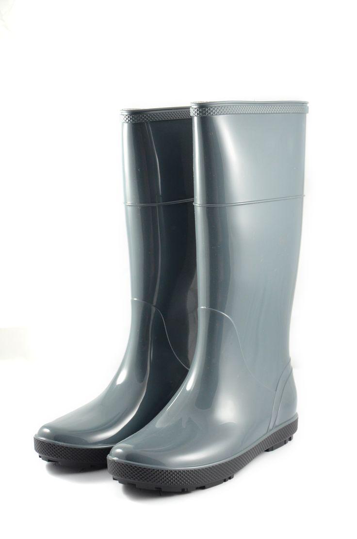 #kaloszeDasmkie w kolorze szarym idealne na wyjście w miasto w niepogodę. #ProduktPolski wyprodukowane przez firmę Demar