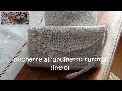 Stupenda Pochette all'uncinetto - Clutch made with crochet Beautiful - Thevideos