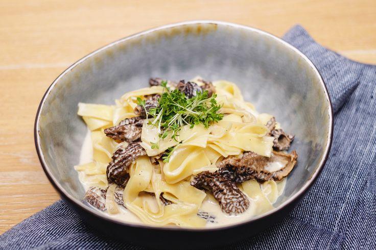 Wermut-Pasta mit Morcheln