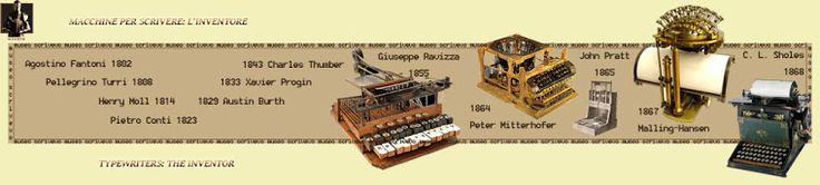 la storia della macchina da scrivere