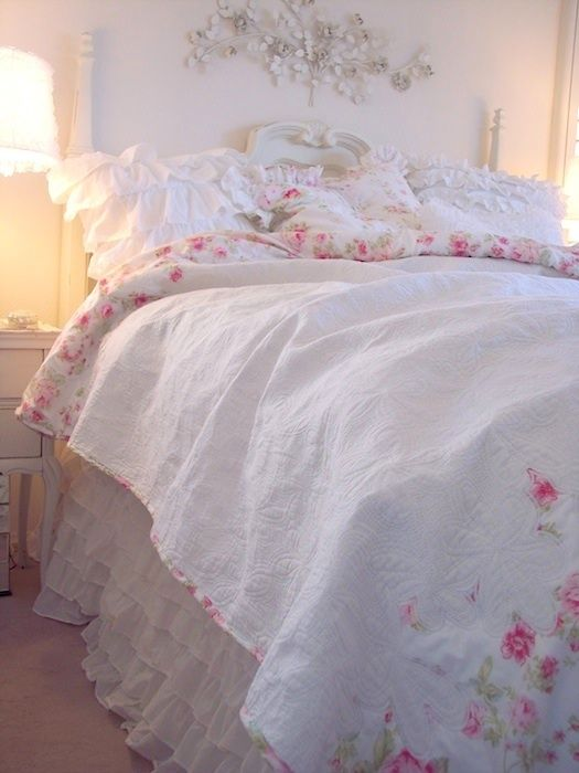 summers cottage bedding | SUMMERS COTTAGE PINK PEONY VINTAGE ROSES WHITE MATELASSE REVERSIBLE ...