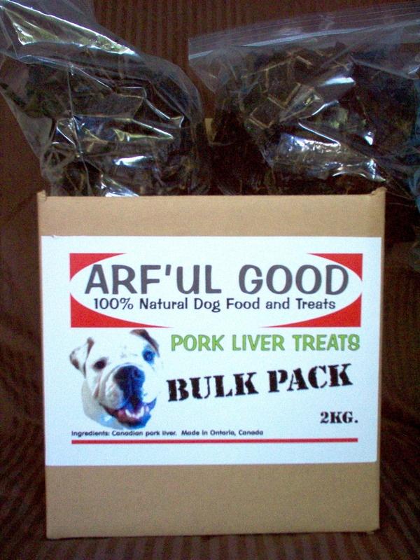 Pork Liver Treats Bulk Box 2kg, $77.99, www.arfulgood.com
