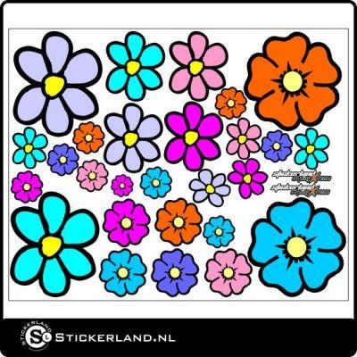 ✔ Bloemen stickerset fullcolor - Ze zijn zo mooi!