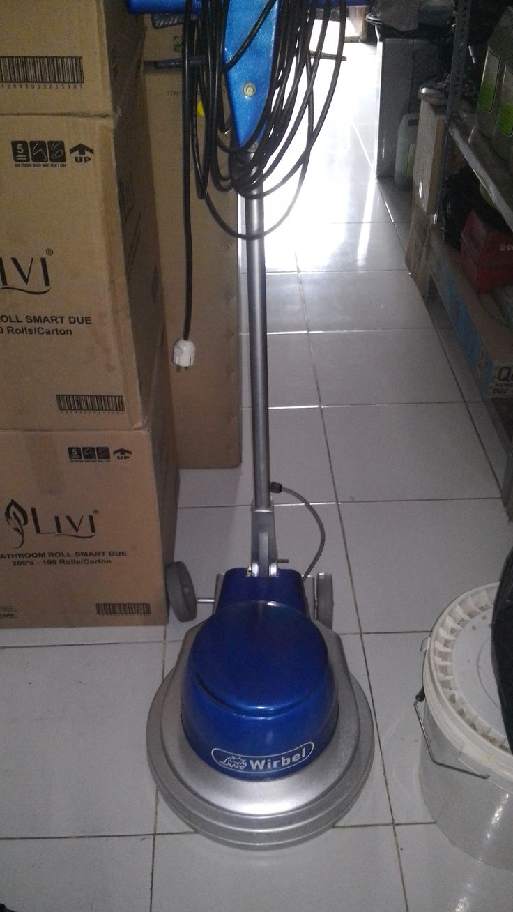 Jual mesin cleaning second mesin poles lantai/floor polisher Wirbel 154 spesifikasi :  Model : Wirbel Candia Plus 154  Power : 1000 Watt  Diameter : 17 Inch  Speed : 154 Rpm  Weight : 48 Kg  Cable : 11 M  Including : Main body,pad holder,water tank  Country : Italy  Garamsi 1 Tahun   Harga Second Rp  5.500,000  Harga Baru     Rp 19.500,000