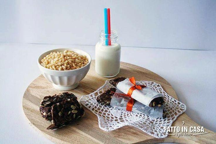 Barrette al Cioccolato e Riso Soffiato di Fatto in casa è più buono