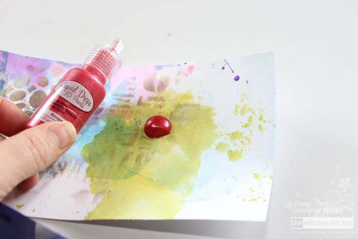 One of my favourite products is the Liquid Drops from Couture Creations. This product is a favourite of mine for creating mixed media backgrounds and more.