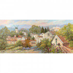 Zina Roitman Summertime at Yemin Moshe (Montefiore Windmill) | Serigraphs