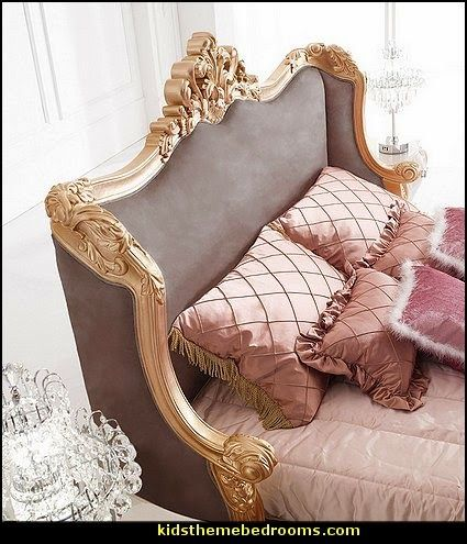 Luxury bedroom designs - Marie Antoinette Style theme decorating ideas - French provincial furniture baroque style - - Louis XVI furniture - Rcoco furniture - baroque furniture
