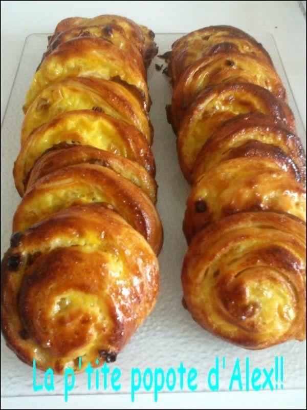 pains aux raisins recette de Christophe Felder