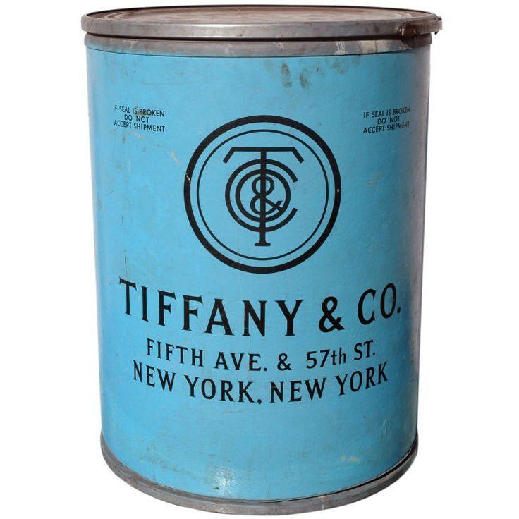 Tiffany & Co. - 1920's - Original Shipping Barrel