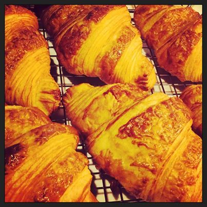 Providore Bakery Croissant is a buttery flaky viennoiserie pastry named for its well known crescent shape. Pies, pastries, sweets and breads, gluten free available. 7 days a week. Made fresh onsite daily. www.marinamirage.com.au #bakery #pastry #croissant #breads #glutenfree #pies