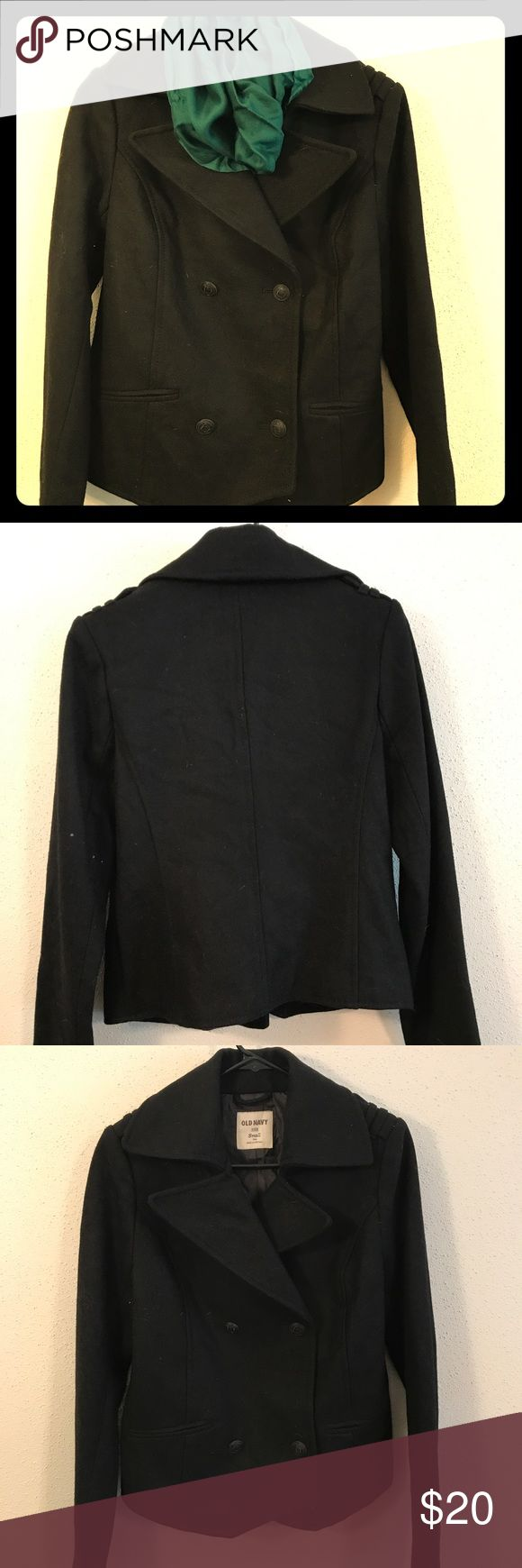 Black pea coat Black pea coat Old Navy Jackets & Coats Pea Coats