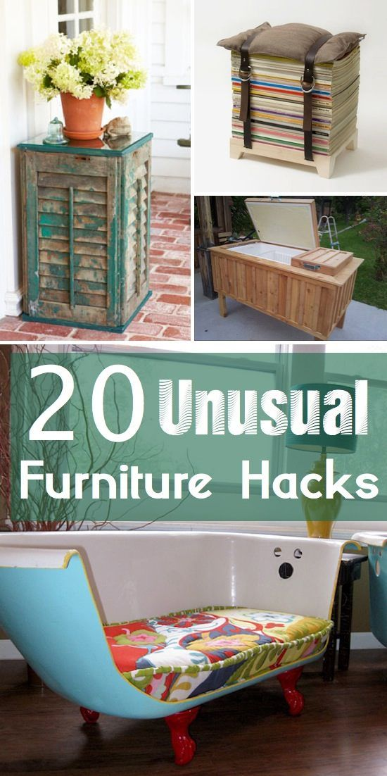 20 Unique & Unusual Furniture Ideas!! With a little bit of creativity, there are so many clever ways to use broken appliances, old furniture, or even everyday household items. #recycle