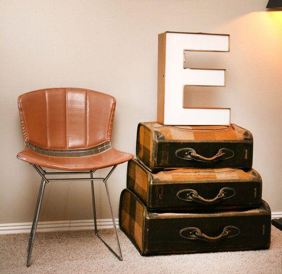 Big Letter E Vintage Industrial Sign Home Decor by TheVintageHog on Etsy.com