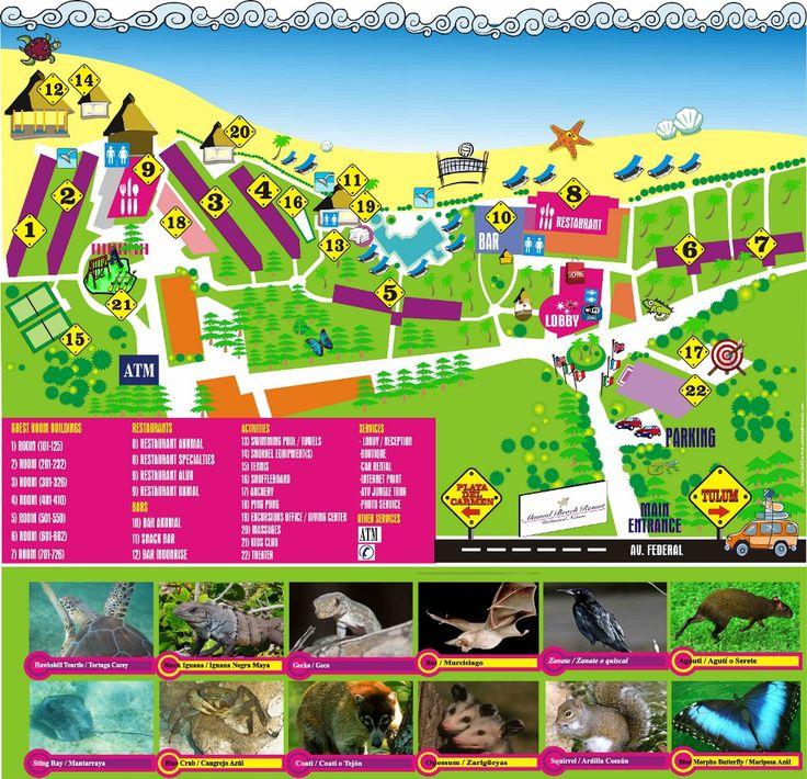 Akumal beach resort hotel map