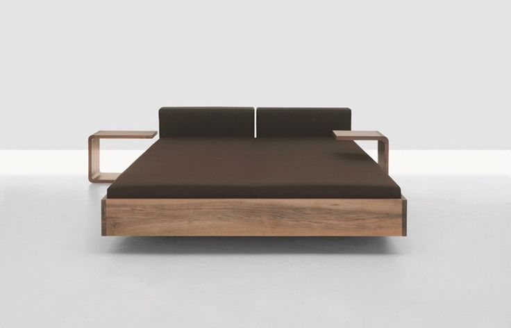 Double bed with upholstered headboard DOZE - ZEITRAUM