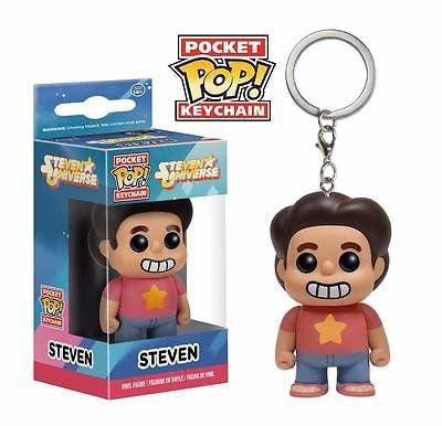 Steven Universe gets the Pop! Vinyl treatment! Half-human and half-gem, Steven embarks on a magical adventure as he learns more about his magical abilities and the guardians of the universe called the Crystal Gems. This Steven Universe Pop! Vinyl Figure Key Chain features the young hero in miniature form to hang perfectly on your key ring! Steven measures about 1 1/2 inches tall  #funko #keychain #popvinyl #actionfigure #collectible #Steven #Universe