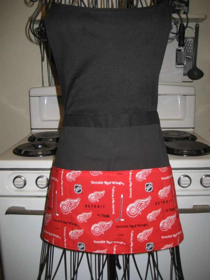 Detroit Redwings NHL Sports Half Apron by Tammysaprons on Etsy