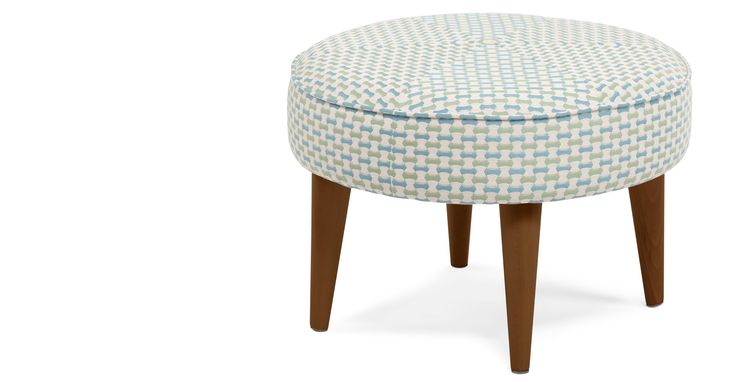 Lulu Footstool, Honeycomb Weave