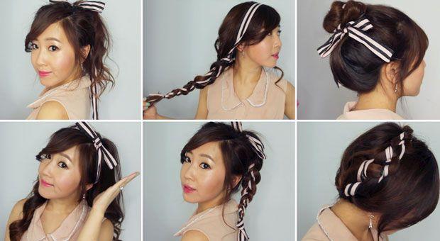 BubzBeauty - 6 Easy Ribbon Hairstyles + LA Meet & Greet Details