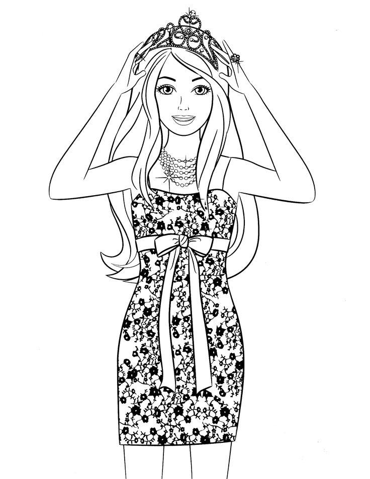 barbie coloring pages dresser | 280 best images about Värityskuvat Barbie on Pinterest ...