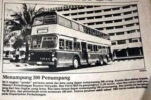 Volvo Double Decker Bus, Jakarta, 1984.