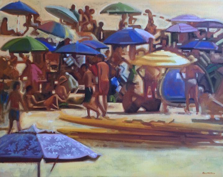 'Beach Series ii' by Joe Blundell www.tuskgallery.com.au