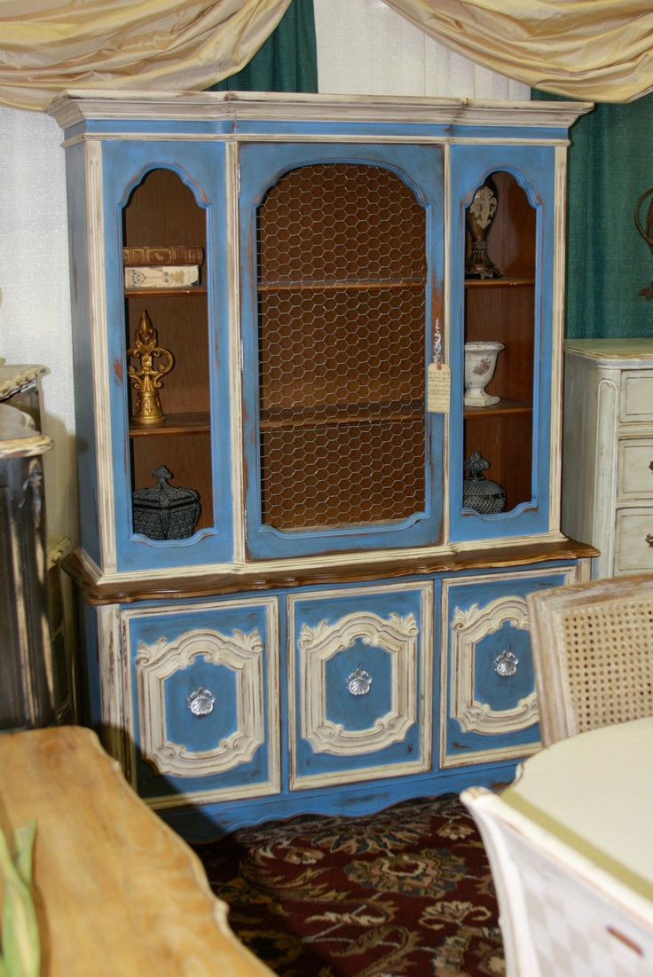 A Bold Hutch Refinish We Debuted At This Years Wichita Falls Home And  Garden Show