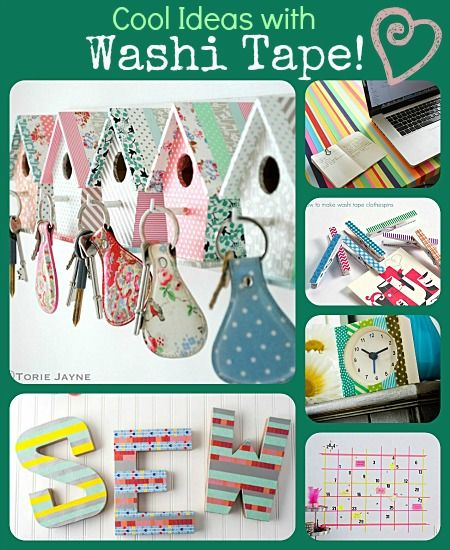 6 cool ideas with washi tape diy crafts pinterest for Washi tape project ideas