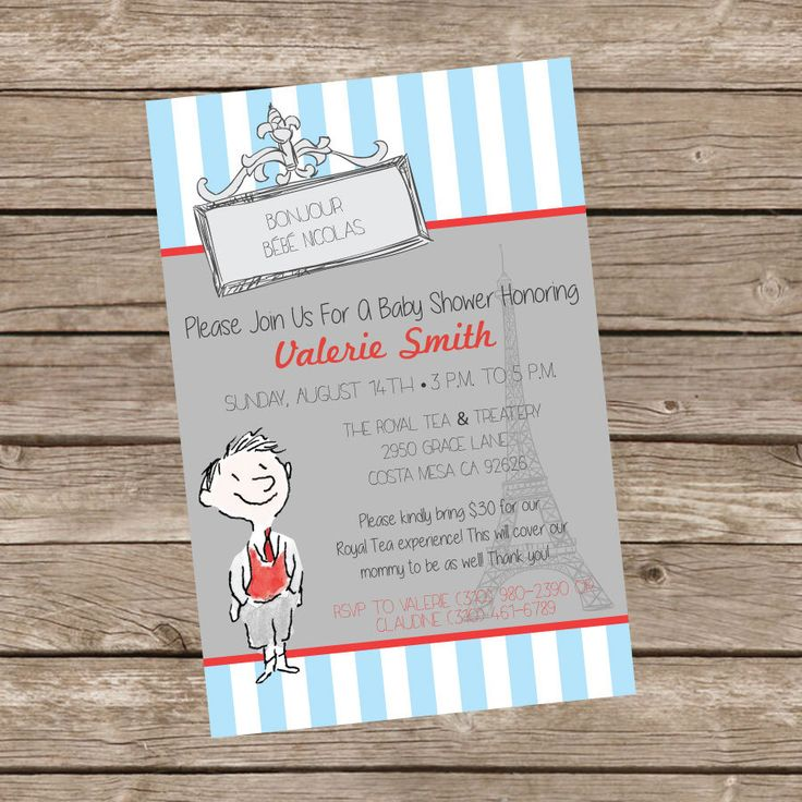 free printable camo baby shower invitations templates%0A Le Petite Nicolas  Bonjour Bebe Shower Invitation by TrishaTreeDesigns on  Etsy