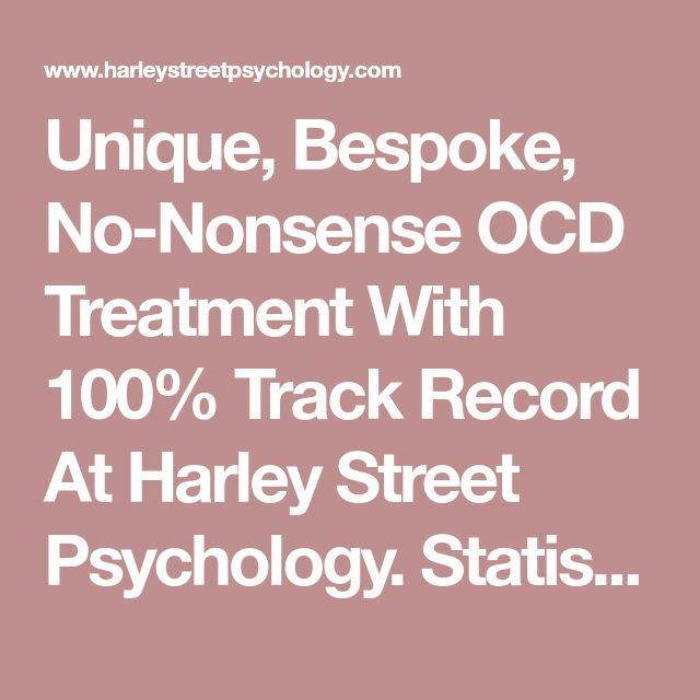 Unique, Bespoke, No-Nonsense OCD Treatment With 100% Track Record At Harley Street Psychology. Statistically Proven Psychotherapy Methods For Beating OCD. Effective Drug-Free Relief From OCD. Regain Your Confidence. Face Your Life Without Fear. Begin Trusting Yourself Again. | HARLEY STREET PSYCHOLOGY
