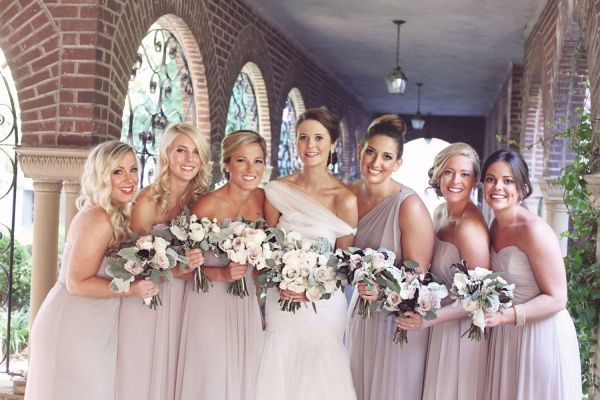 Light Taupe Bridesmaids Dresses   photography by http://amycampbellphotography.com