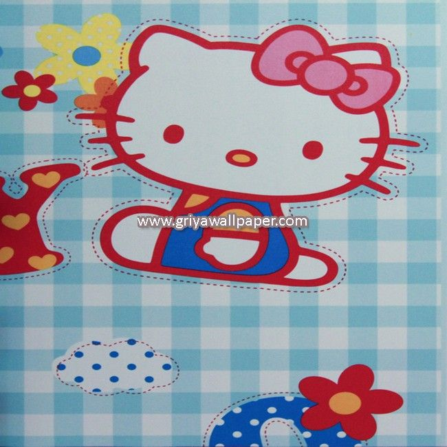 Wallpaper Dinding Kamar Anak Hello Kitty Murah