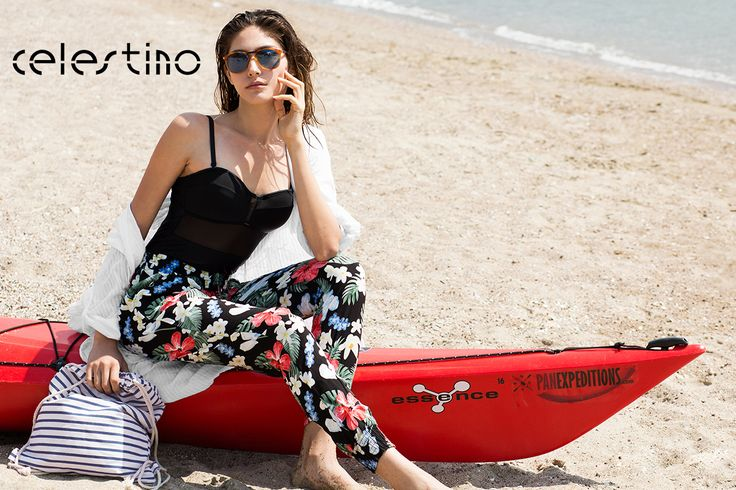 Florals on the beach? YES! #Celestino #fashion #florals #outfit #summerstyle #styleinspo #fashioninspo #beachwear #swimsuit #sporty #kayak #panexpeditions (Special thanks to @PanExpeditions for hosting us)