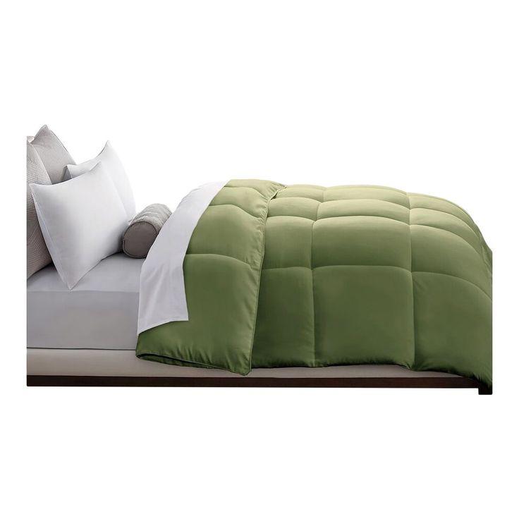 Microfiber Down Alternative Comforter (Full/Queen) Sage (Green)
