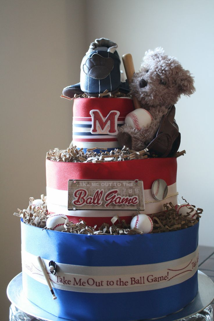 All Star Baseball Diaper Cake by DuckyDuckDiaperCakes on Etsy