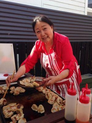 To celebrate Chinese New Year, Liyan Sheng cooked dumplings at Rhona Day Kindergarten.