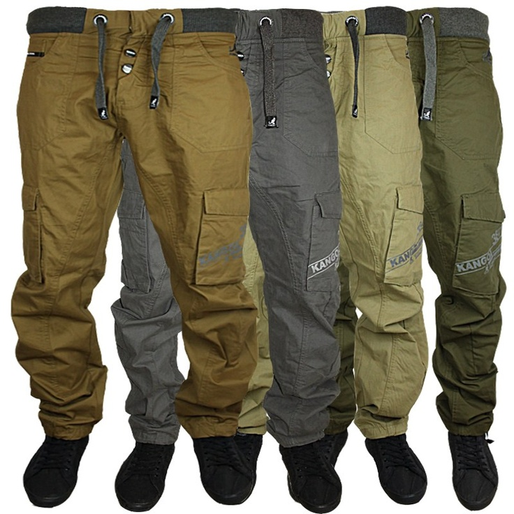 New mens kangol jeans k603555vb curved leg cargo chinos ...