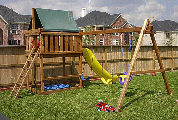 jack 39 s backyard apollo redwood fort with 3 position swingset kit add on tiny town playground. Black Bedroom Furniture Sets. Home Design Ideas