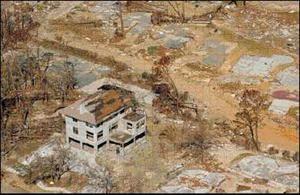 Cement Block Construction that Survived Hurricane Damage