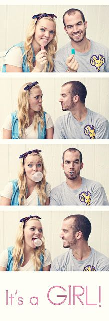 Gender reveal. So cute! .... no this is not a hint that we're having a baby ANY time soon.