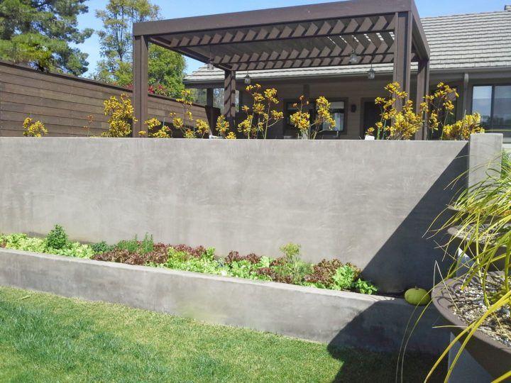 Concrete Retaining Wall Idea Concrete Retaining Wall Idea Design Ideas And Photos In 2020 Garden Wall Designs Concrete Retaining Walls Inexpensive Retaining Wall Ideas
