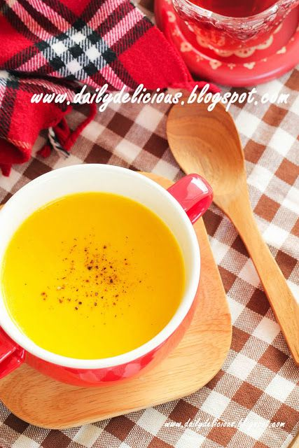 dailydelicious: Happy Cooking with LG SolarDom: Quick and easy Pumpkin potage (Pumpkin soup)