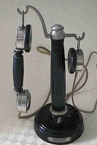 Téléphone ancien bougie Grammont vers 1920-1930