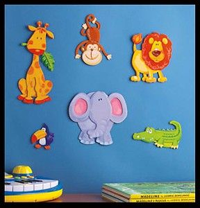 Kids Room Art Wall Decor Baby Jungle Nursery Stickers Mural Animals Childrens Misc Items Pinterest And