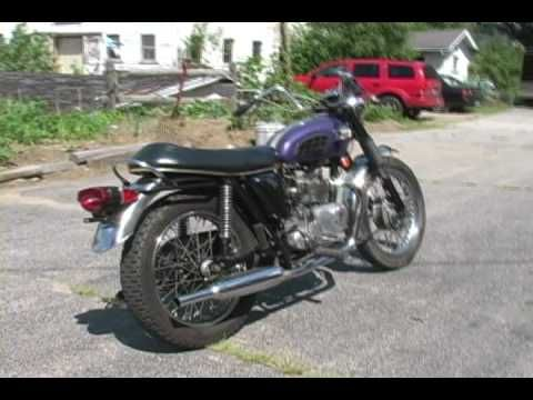 1970 purple Triumph Trophy 500 www.gothardt.com