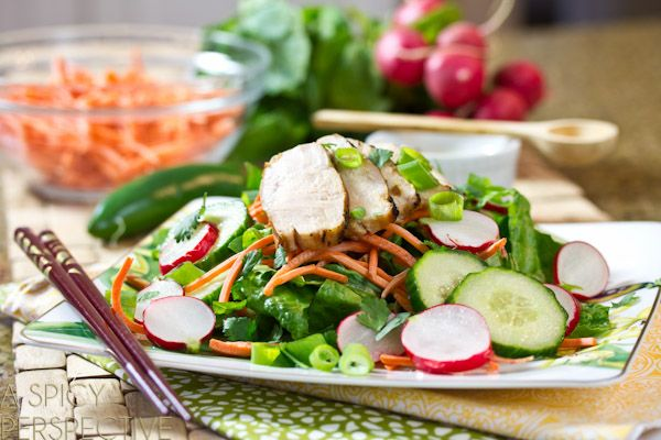 Vietnamese Salad ~ Banh Mi Style | A Spicy Perspective #healthy #salad #vietnamese  Think I could do this without the sugar