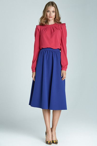 Modna+spódnica+Midi+sp28+-+niebieski+w+NIFE+Fashion+na+DaWanda.com
